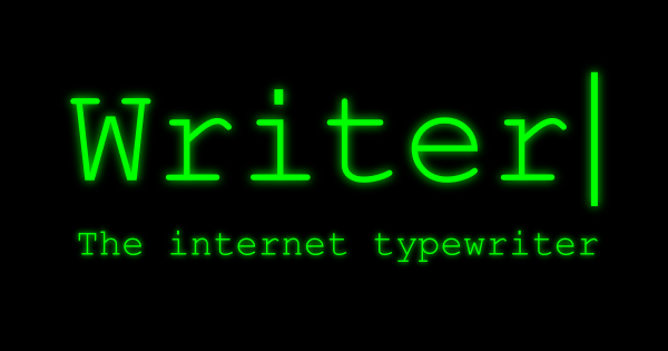 Writer, the Internet Typewriter